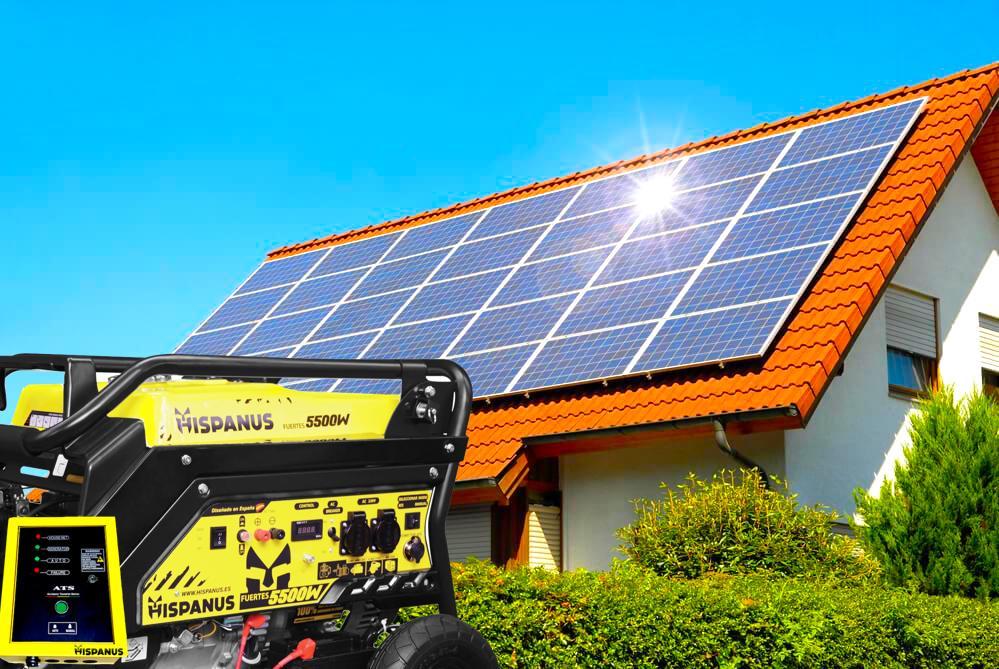 generador de apoyo solar